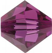 6mm SWAROVSKI® ELEMENTS Fucshia Xilion Beads - 25 crystals for jewellery making, beadwork and craft